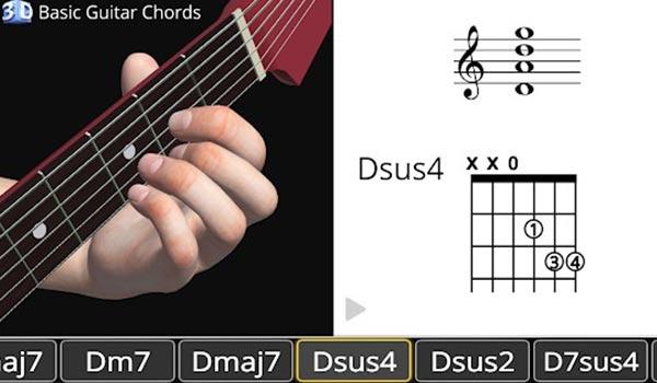 Kunci Gitar Dasar 3D - Basic Guitar Chords 3D