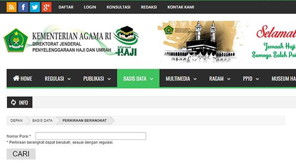 Cara Mengecek Porsi Haji Lewat Online