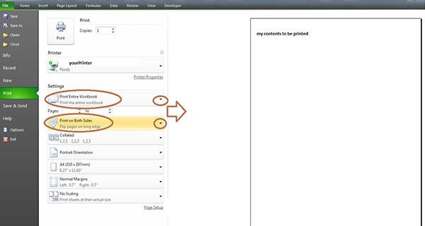 Cara Print Bolak Balik Excel