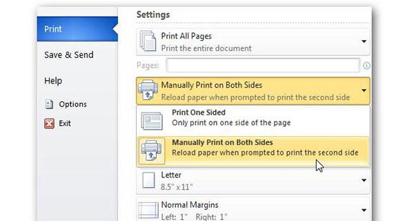 Cara Print Bolak Balik Word Manual