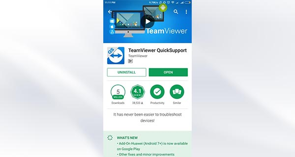 Download TeamViewer QuickSupport Di HP Target