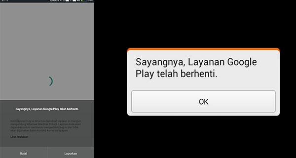 Layanan Google Play Berhenti