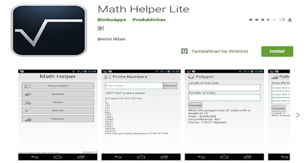 Math Helper Lite - Algebra