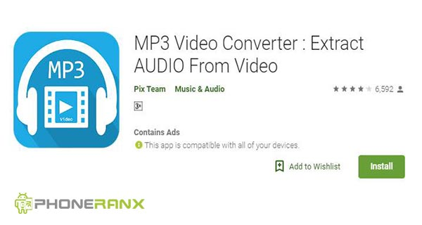 Pix Team: Video MP3 Converter