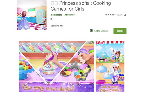 👩🍳 Princess sofia Cooking Games for Girls