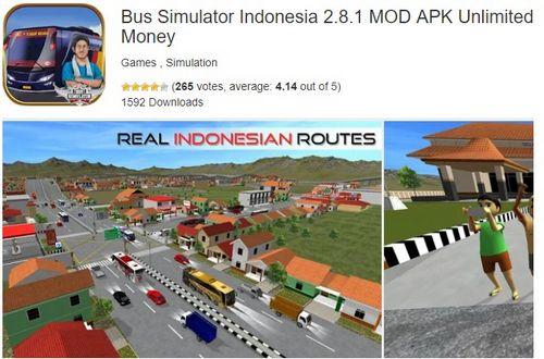 Bus Simulator Indonesia 2.8.1 MOD APK Unlimited Money