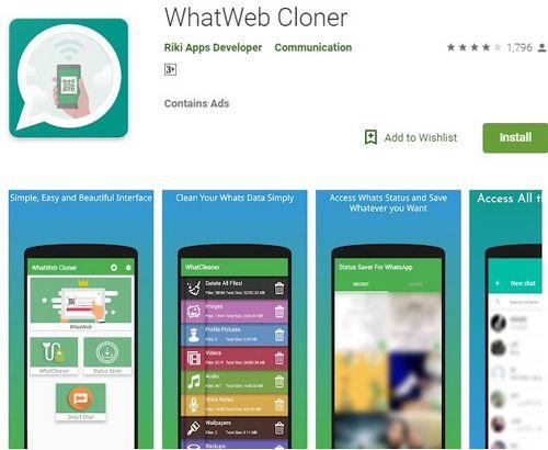 Cara Menyadap Whatsapp Yang Aman Pakai WhatWeb Cloner