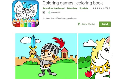 Coloring games coloring book