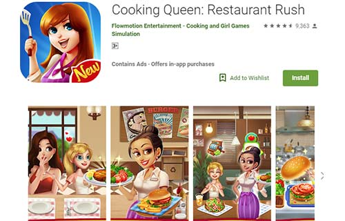 Cooking Queen Restaurant Rush