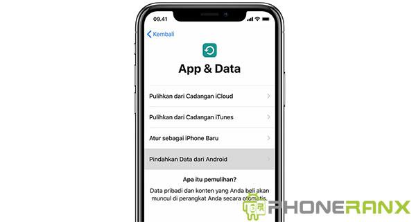 Pertama anda harus ketuk pindahkan data dari Android