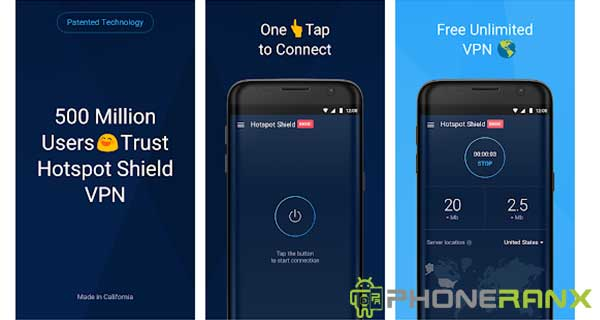 Free VPN Proxy Hotspot Shield