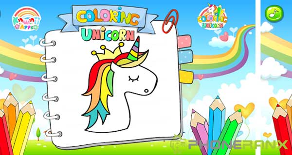 Kawaii Unicorn Coloring Book