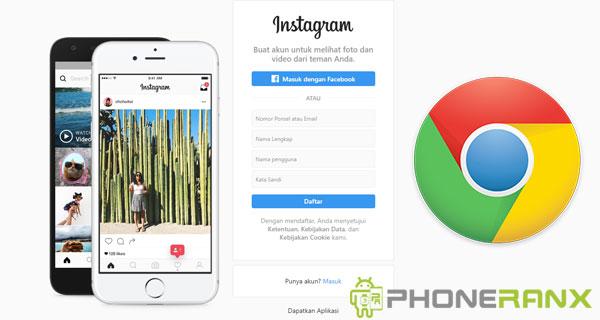 Langkah Upload Foto Instagram di Google Chrome