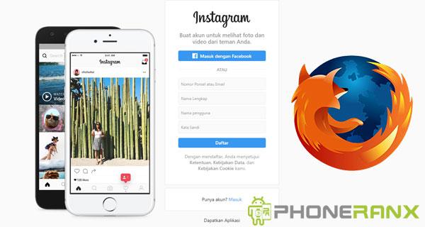 Langkah Upload Foto Instagram di Mozila