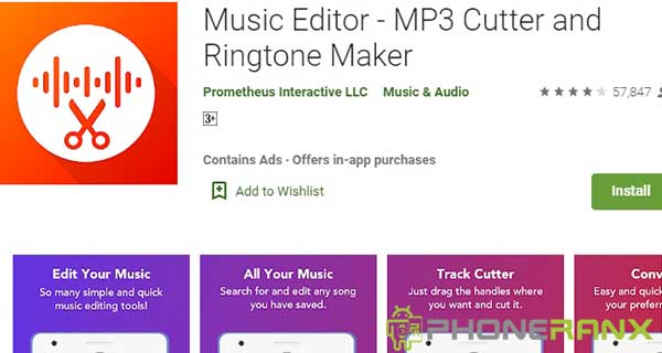 Music Editor MP3 Cutter and Ringtone Maker