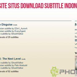 Daftar Website Situs Download Subtitle Indonesia Terbaru