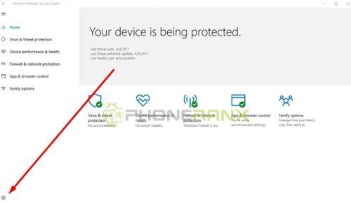 Pada menu Virus threat protection kamu klik menu Setting pada bagian sebelah pojok kiri bawah