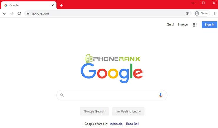 Silahkan kamu buka Google Chrome di HP Android ataupun Laptop Windows kamu