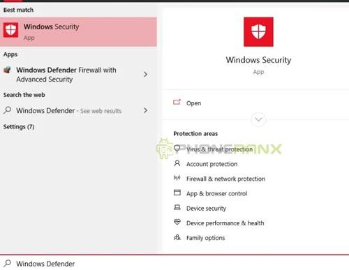 Silahkan kamu klik tombol Windows pada keyboard PC atau Laptop kamu lalu ketikkan Windows Defender atau jika tidak menemukannya ganti Virus threat protection