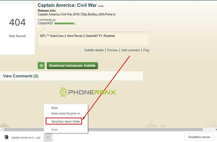 Tinggal tampilkan file download tersebut di file explore laptop windows kamu atau HP Android kamu