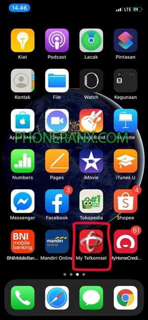 Buka Aplikasi MyTelkomsel