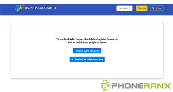 Cara Daftar Sensus Penduduk Online via HP Android