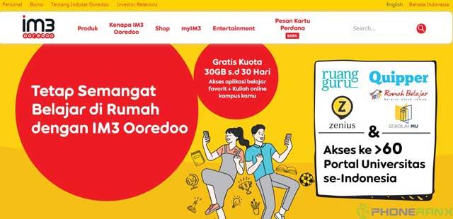 Cara Menggunakan Kuota Edukasi Indosat Terbaru