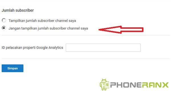 Cara Menyembunyikan Jumlah Subscriber di HP Android