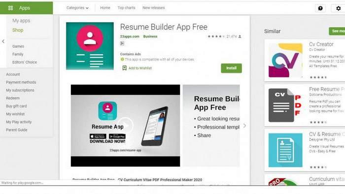 17 aplikasi membuat cv online  u0026 offline di hp terbaik 2020