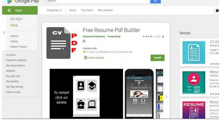 Free Resume PDF Builder