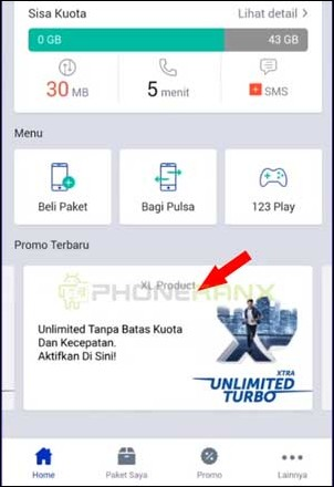 Klik XL Produk Unlimited Turbo