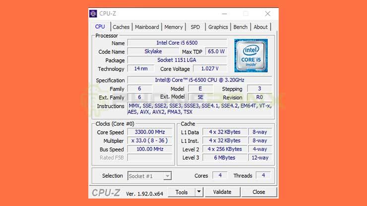 Menggunakan CPU Z