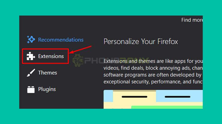 Pilih Extensions