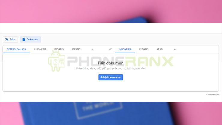 Translate File PDF dengan Google Translate