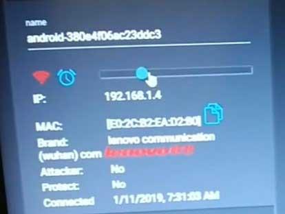 5. Untuk memutuskan koneksi internet perangkat tersebut kamu tinggal pilih perangkat yang ingin diputuskan lalu geser ke kiri scroll yang warna biru