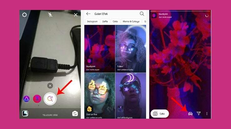 Cara Mencari Efek Instagram