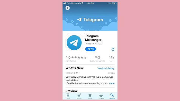 Download Aplikasi Telegram