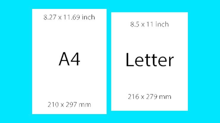Perbedaan Ukuran Kertas A4 dan Letter