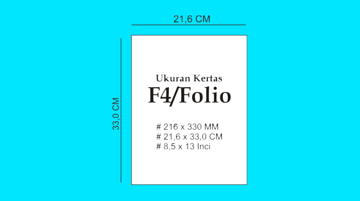 Ukuran Kertas F4 Folio HVS