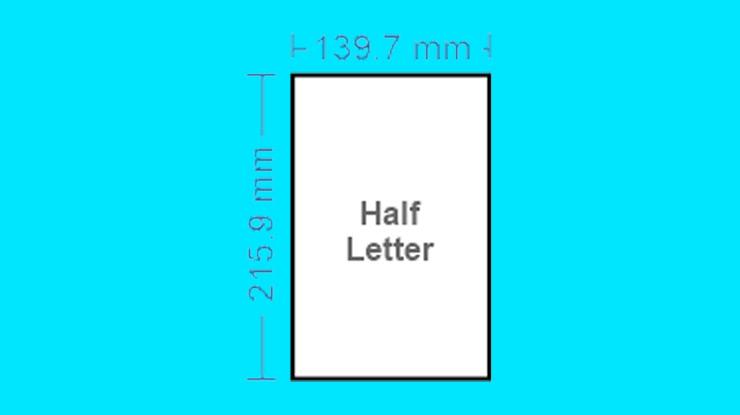 Ukuran Kertas Half Letter