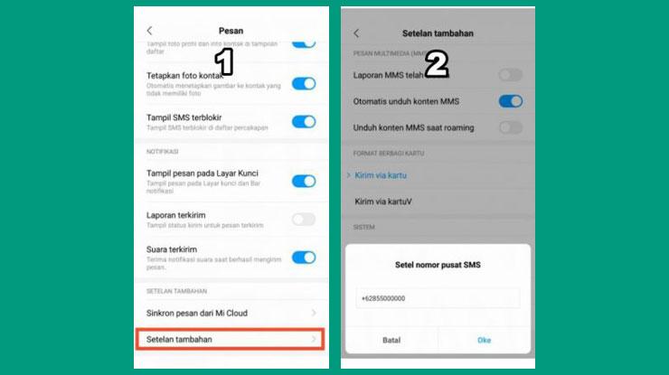 Cara Mengatur Nomor SMSC Indosat