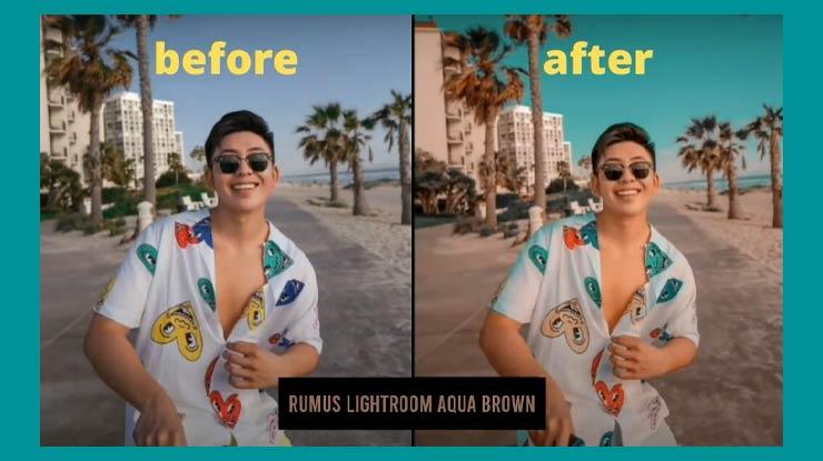 Rumus Lightroom Aqua Brown