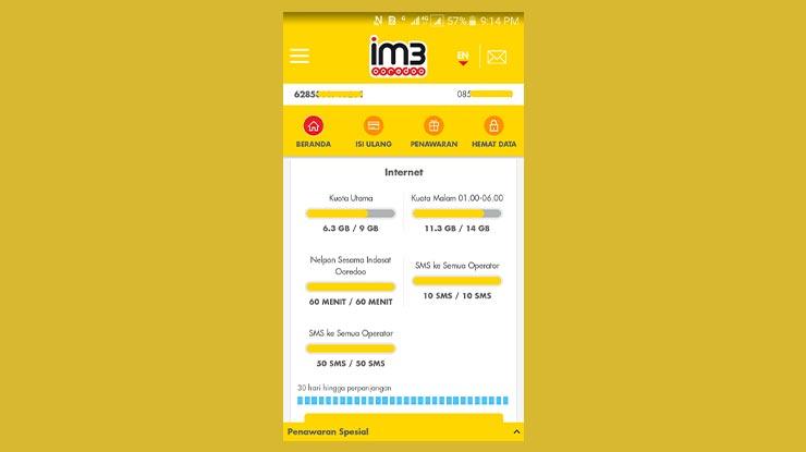 Cara Beli Paket Unlimited Indosat 25rb Via Aplikasi