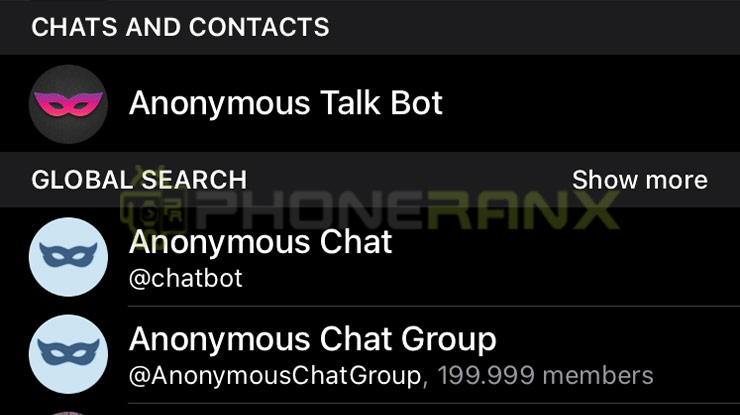 Gunakan fitur Chat Anonymous