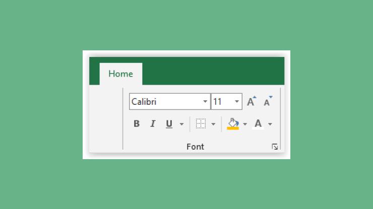 Fungsi Font Pada Menu Home Microsoft Excel