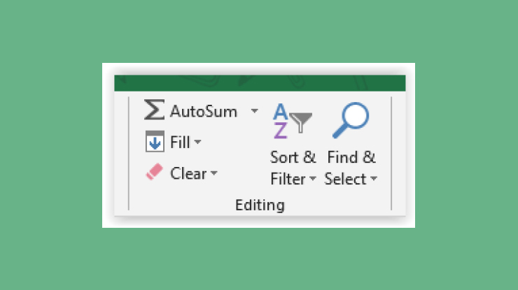 Fungsi Menu Editing di Home Excel