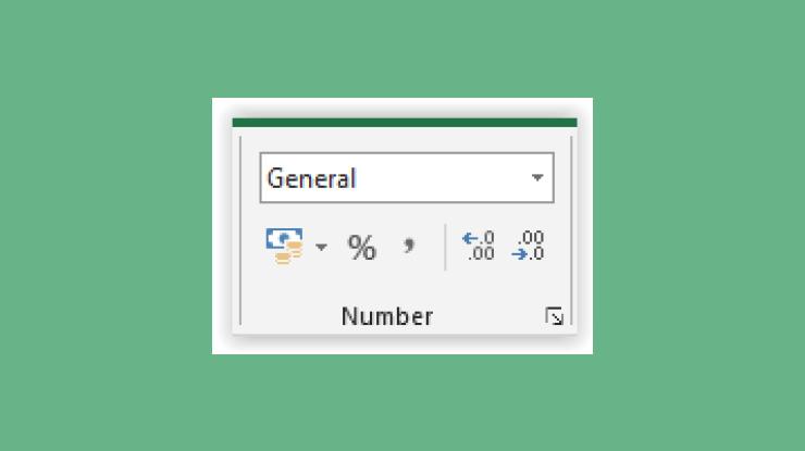 Kegunaan Number di MS Excel