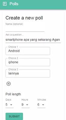 Cara Membuat Polling di Polls for WhatsApp