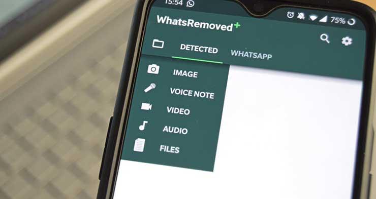 Menggunakan WhatsRemoved
