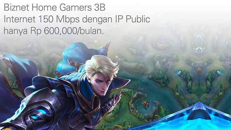 Paket Biznet Home Internet Gamers 3B